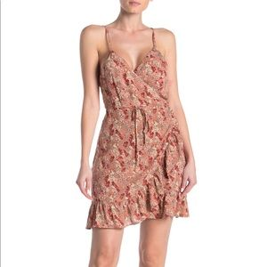 NWT Free People All of My Love Printed Wrap Dress